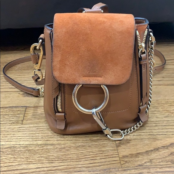 8f003aad CHLOÈ small Faye Suede & Leather Backpack